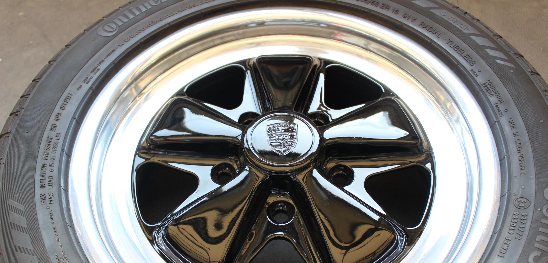 Felgenrestauration Porsche nachher