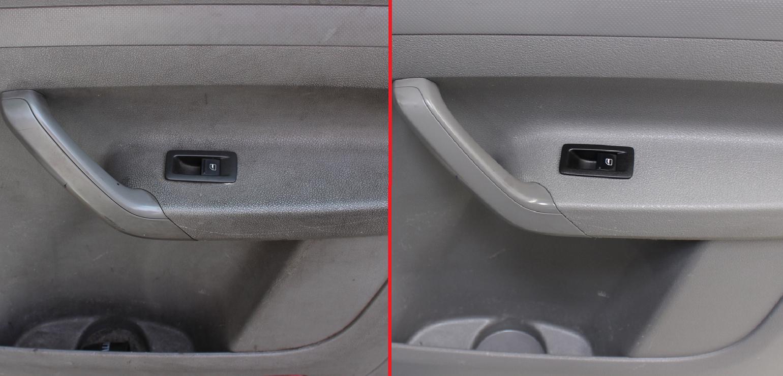 Vorher-/Nachher-Vergleich einer Beifahrertür